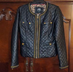 ABS Allen Schwartz Faux Leather Jacket